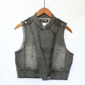 F21 | Gray Zipper Vest